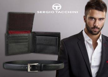 Sergio Tacchini bőr öv és pénztárca