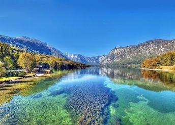 Vár a Száva vízesés, a Bohinji-tó és Bled