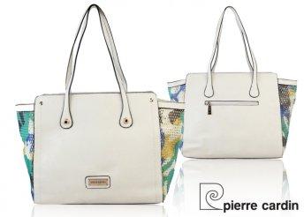 Pierre Cardin fehér, mintás, női táska