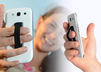 Gumis telefontartó