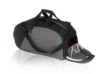 600D sporttáska fekete/szürke