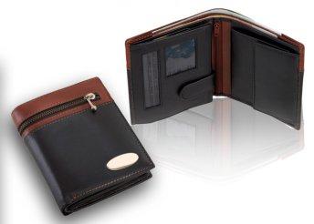 Cash férfi, valódi bőr pénztárca változatos zsebekkel