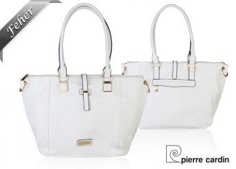 Pierre Cardin márkájú, márkajelzéssel díszített, divatos megjelenést kölcsönző, női válltáska kétféle színben
