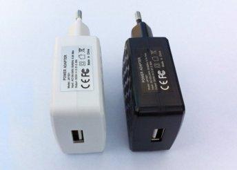 USB töltő 2 Amp tápegység