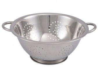 Praktikus, rozsdamentes 2 az 1-ben tésztaszűrő és zöldség/gyümölcs mosó, 28 cm-es