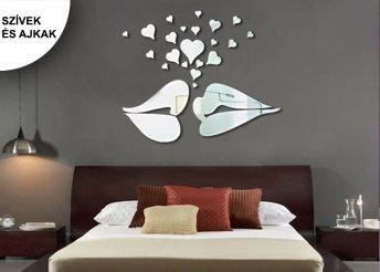 Modern, tükör hatású faldekoráció sokféle mintában