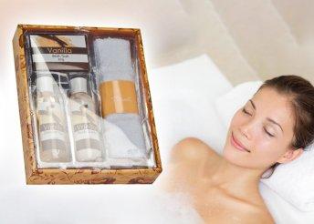 4 részes fürdőkészlet vanília illattal