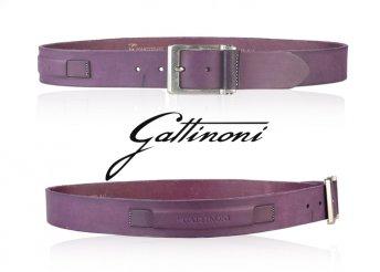 Gattinoni erős, elegáns, csatos, 100% valódi bőr, férfi öv
