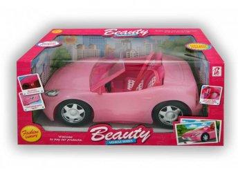 33 cm-es rózsaszín kabrió Barbieknak biztonsági övvel