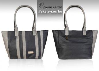 Pierre Cardin, függőleges csíkos mintás eco-bőr női válltáska