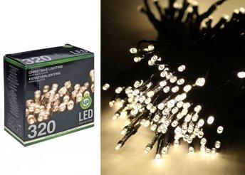 27 m, 320 LED-es, melegfehér fényfüzér kül-és beltérre egyaránt