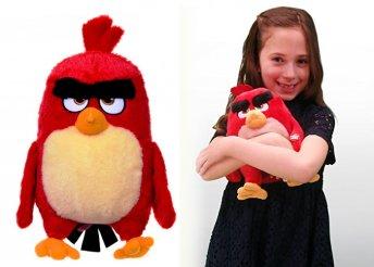 28 cm-es Angry Birds piros plüssfigura
