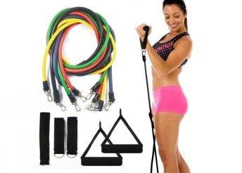 Gumikötél készlet otthoni edzéshez