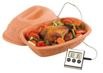 LCD kijelzős, riasztós konyhai hőmérő