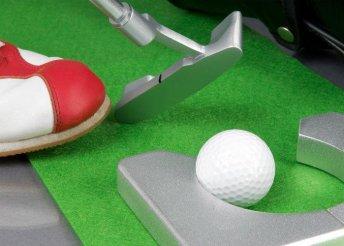 Beltéri golf szett műbőr golftáskával