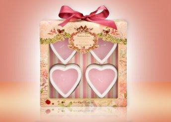 HEATHCOTE AND IVORY szív alakú gyertya 4 db-os