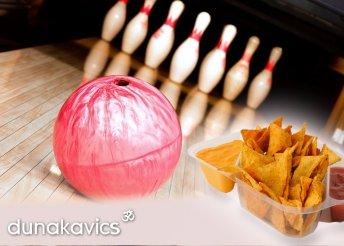 1 óra bowlingozás és 6 adag finom nachos