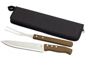 2 részes, BUTCHER hússzeletelő szett rozsdamentes acél villával és késsel