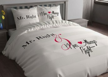 Mr Right és Mrs Always Right ágyneműhuzat garnitúra