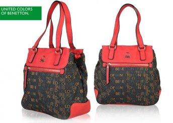 Benetton női táska, két divatos színben