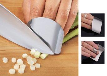 Rozsdamentes acél ujjvédő a különféle vágó műveletekhez