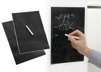 2 db krétával írható tapadós tábla