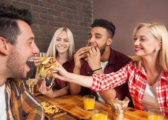 4 fős hamburger menü a Kantinban