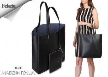 Made in Italia Amanda, márkajelzéssel díszített, női nagyméretű bevásárló táska négyféle színben