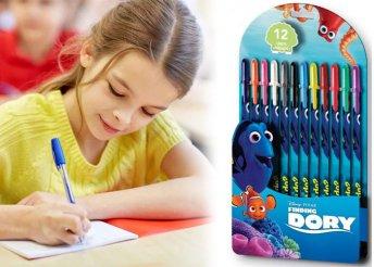12 db-os, színes, mesefigurás, zselés tollkészlet