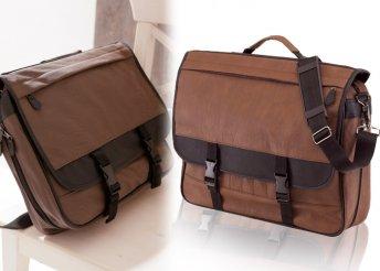 Ambassador táska egy főrekesszel és két cipzáras első zsebbel