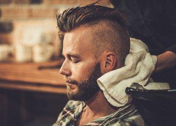 Férfi hajvágás fejmasszázzsal