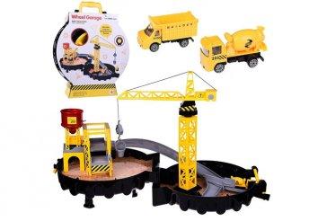 Építkezős szett daruval és járművekkel