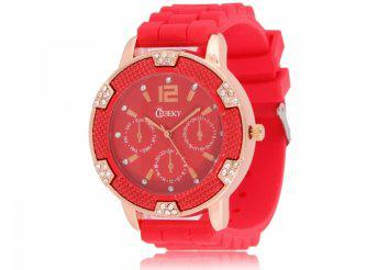 Cheeky HE001 Red Chronostyle női karóra