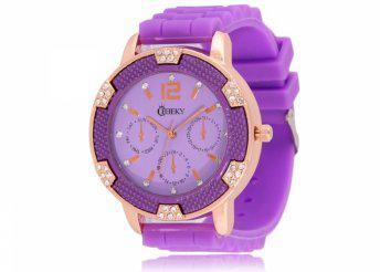 Cheeky HE001 Purple Chronostyle női karóra
