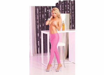 Sleek and shiny pink leggings: S/M