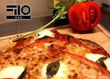 Teljes kiőrlésű lisztből készült pizza